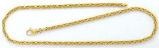 Foto 1, Königskette Goldkette Goldhalskette massiv Gelbgold 14K, K2570