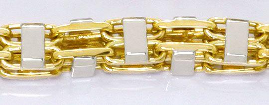 Foto 2, Super Schwere massive Gold Kette Gelbgold Weissgold 14K, K2571