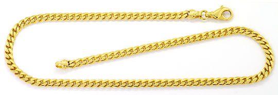 Foto 2, Gelbgold Set Kette und Armband Flachpanzer Gewoelbt 14K, K2573