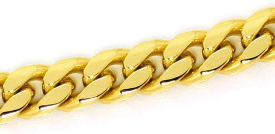 Foto 3, Gelbgold Set Kette und Armband Flachpanzer Gewoelbt 14K, K2573