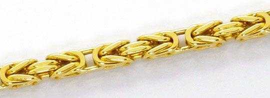 Foto 2, Goldhalskette Königskette massiv Gelbgold 14K Karabiner, K2574