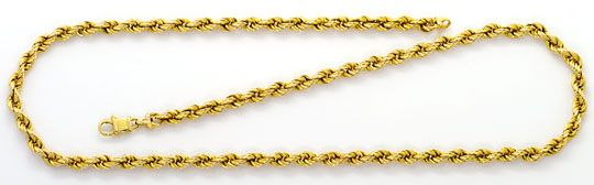 Foto 1, Kordel Goldkette, Gelbgold Halskette 14 Karat Karabiner, K2576