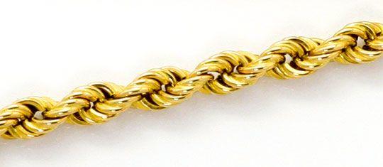 Foto 2, Kordel Goldkette, Gelbgold Halskette 14 Karat Karabiner, K2576