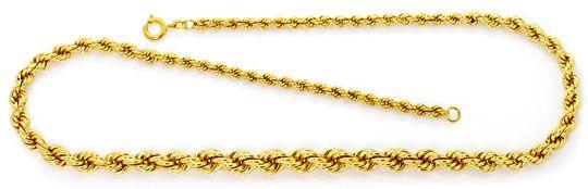 Foto 1, Goldkette Kordelkette Verlauf Goldkollier Gelb Gold 14K, K2577