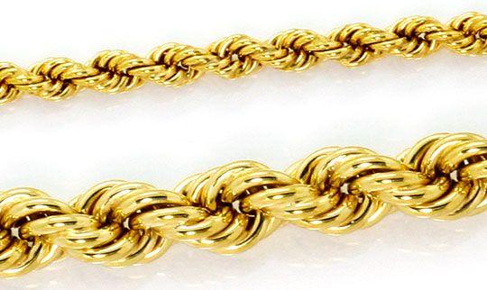 Foto 2, Goldkette Kordelkette Verlauf Goldkollier Gelb Gold 14K, K2577