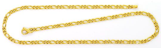 Foto 1, Figaro Flachpanzer Goldkette, massives Gelbgold 14K/585, K2580