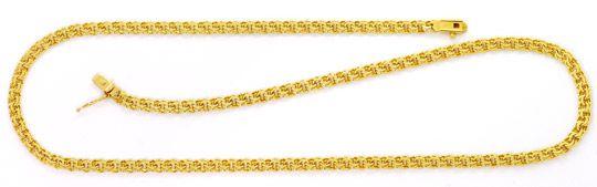Foto 1, Garibaldi Goldhalskette massiv 14K/585 Kastenverschluss, K2583