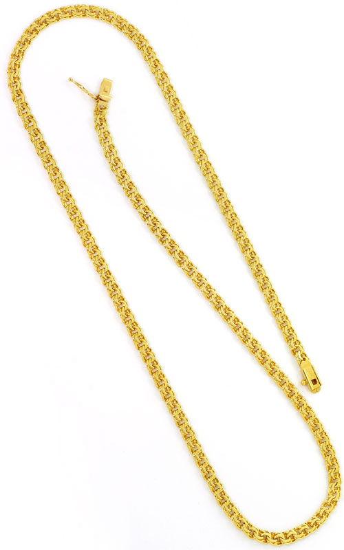 Foto 3, Garibaldi Goldhalskette massiv 14K/585 Kastenverschluss, K2583