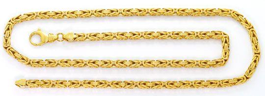 Foto 1, Schwere lange Königskette Goldkette massiv 18K Gelbgold, K2590