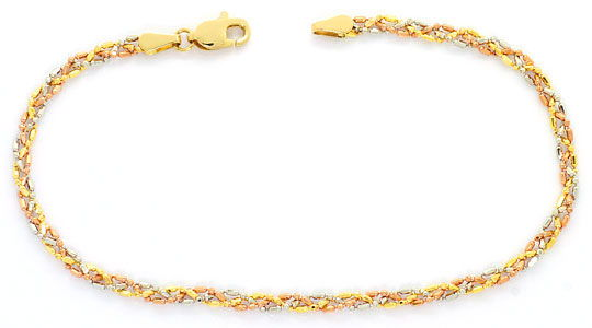 Foto 1, Gold-Kette Gold-Armband, Gelbgold Rotgold Weissgold 18K, K2592