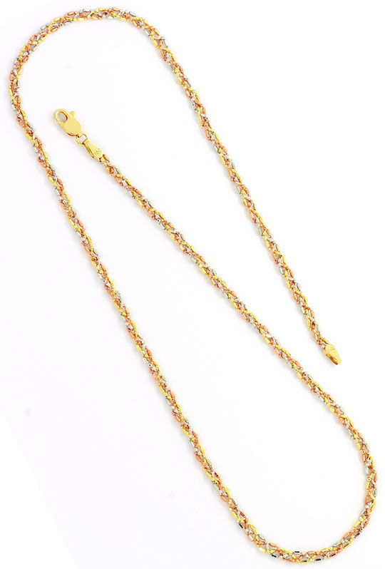 Foto 5, Gold Kette Gold Armband, Gelbgold Rotgold Weissgold 18K, K2592