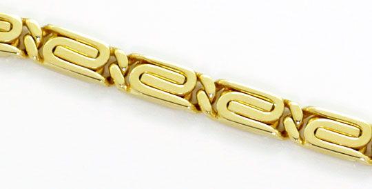 Foto 2, S Flachpanzer Goldkette Designer Karabiner Gelbgold 14K, K2600