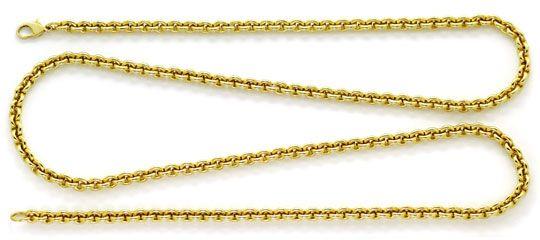 Foto 1, Rundanker Goldkette lang mit Karabiner Gelbgold 18K/750, K2601