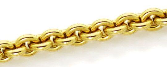 Foto 2, Rundanker Goldkette lang mit Karabiner Gelbgold 18K/750, K2601