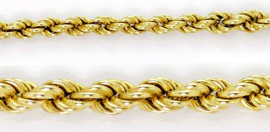 Foto 2, Gold Kollier Kordelkette Verlauf Karabiner Gelbgold 14K, K2602