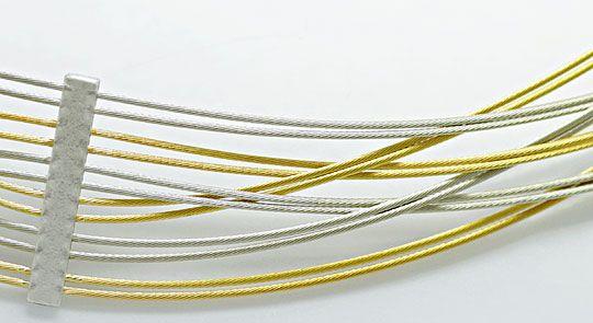 Foto 2, Geflochtenes Gold Kollier im Verlauf Gelbgold Weissgold, K2603
