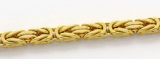 Foto 2, Königskette, massive Gelbgold Kette 50cm Laenge 18K/750, K2604