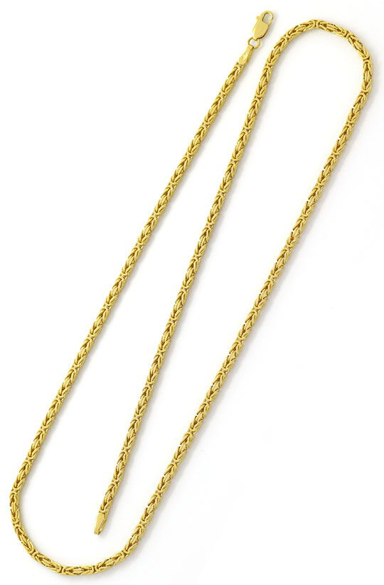 Foto 3, Königskette, massive Gelbgold Kette 50cm Laenge 18K/750, K2604