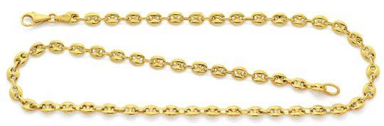 Foto 1, Halskette Bohnen Marina Schiffsanker Kette Gelbgold 14K, K2606