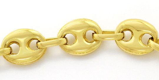 Foto 2, Halskette Bohnen Marina Schiffsanker Kette Gelbgold 14K, K2606