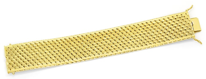 Foto 1, Massives schweres breites Gold Armband 14K/585 Gelbgold, K2608
