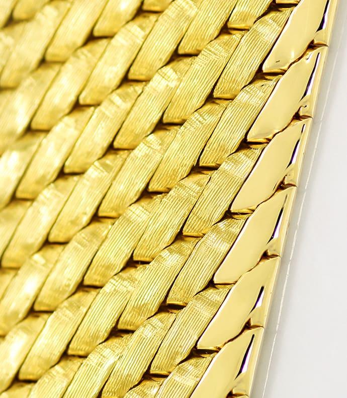 Foto 2, Massives schweres breites Gold Armband 14K/585 Gelbgold, K2608