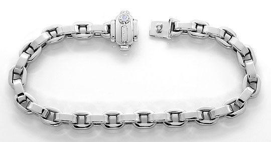 Foto 1, Chimento Armband Brilliant im Verschluss, Weissgold 18K, K2610