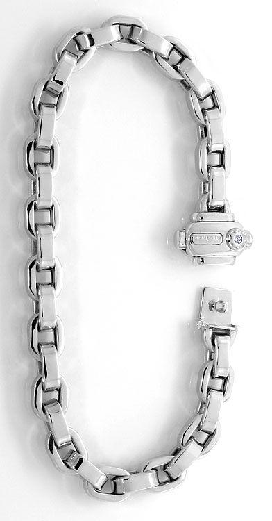 Foto 2, Chimento Armband Brilliant im Verschluss, Weissgold 18K, K2610