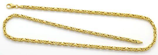 Foto 1, Königskette achtseitig geschliffen massiv Gelbgold 52Cm, K2611