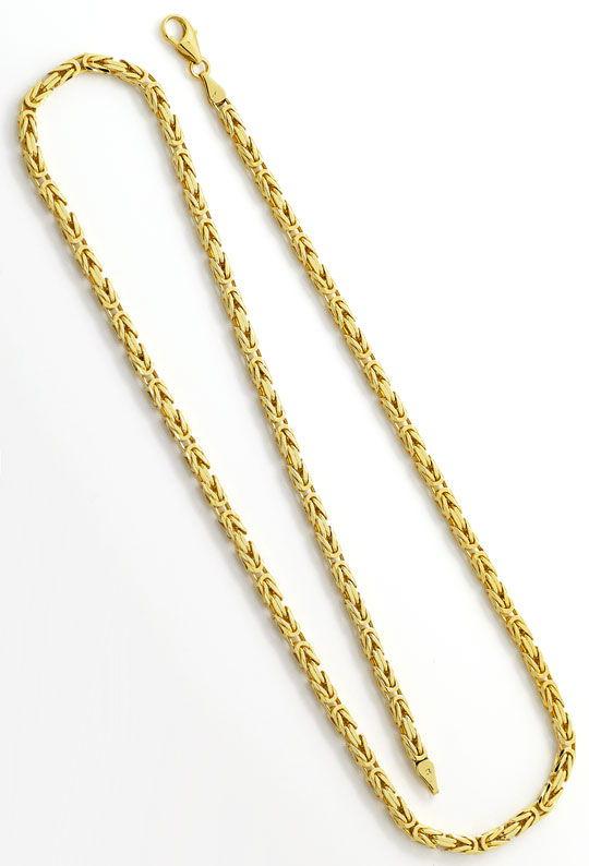 Foto 3, Königskette achtseitig geschliffen massiv Gelbgold 52Cm, K2611