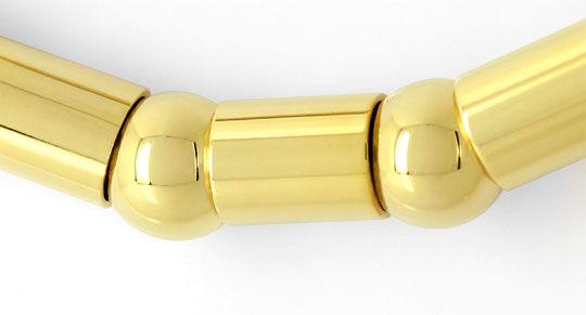 Foto 2, Gelbgold Armband Fantasiemuster aus Kugeln und Tönnchen, K2614