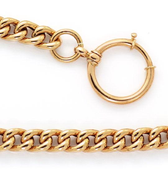 Foto 3, Alte Rotgold Uhrkette oder Halskette mit Knebel 14K/585, K2615