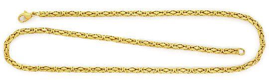Foto 1, Koenigskette, 52cm Goldkette Karabiner Gelbgold 14K/585, K2623