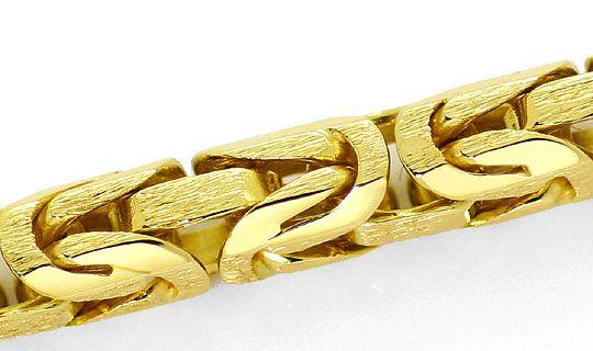 Foto 2, Koenigskette, 52cm Goldkette Karabiner Gelbgold 14K/585, K2623
