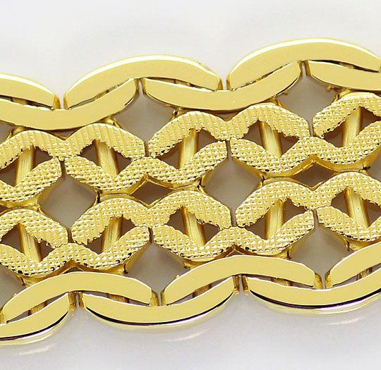 Foto 2, Designer Goldarmband, Kastenverschluss Gelbgold 14K/585, K2624