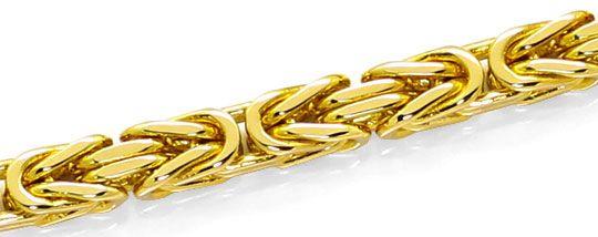 Foto 2, Massive Gelbgoldkette Königskette mit Karabiner 14K/585, K2625
