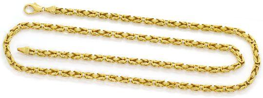 Foto 1, Goldhalskette massive Königskette 74cm Gelbgold 14K/585, K2628
