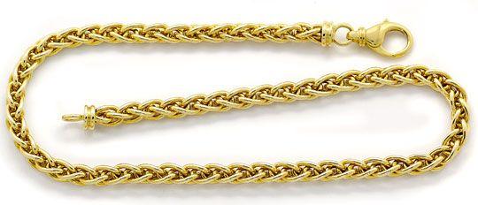 Foto 1, Tolle Zopf Goldkette Karabiner Verschluss, Gelbgold 14K, K2632