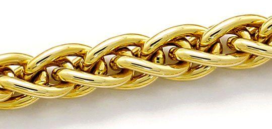 Foto 2, Tolle Zopf Goldkette Karabiner Verschluss, Gelbgold 14K, K2632