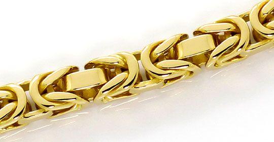Foto 2, Massives Königsketten Armband Kastenverschluss 18K Gold, K2634