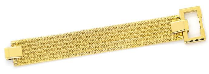 Foto 1, Breites, schweres, Designer Gelbgold Armband massiv 18K, K2638