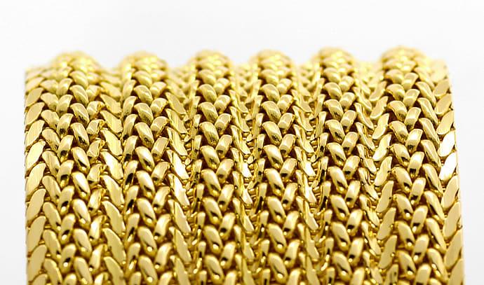 Foto 3, Breites, schweres, Designer Gelbgold Armband massiv 18K, K2638