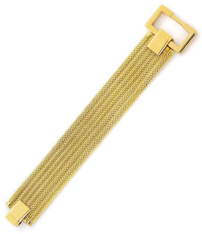 Foto 4, Breites, schweres, Designer Gelbgold Armband massiv 18K, K2638
