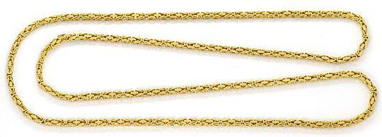 Foto 1, Massive Königskette Goldkette 80cm Endlos, Gelbgold 14K, K2643