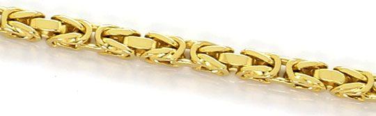 Foto 2, Massive Königskette Goldkette 80cm Endlos, Gelbgold 14K, K2643
