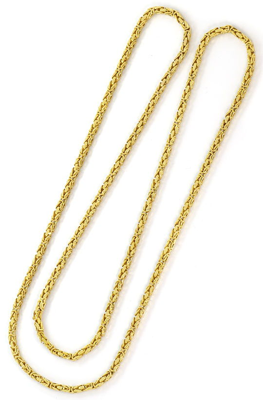 Foto 3, Massive Königskette Goldkette 80cm Endlos, Gelbgold 14K, K2643