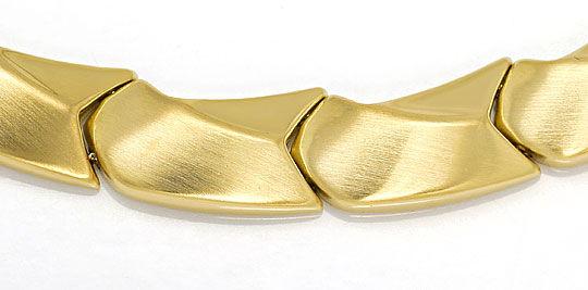 Foto 2, Designer Goldkollier Fantasiemuster in Gelbgold 14K/585, K2650