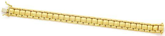 Foto 1, Gelbgold Armband Wuerfel  Backstein Muster Gelbgold 14K, K2654