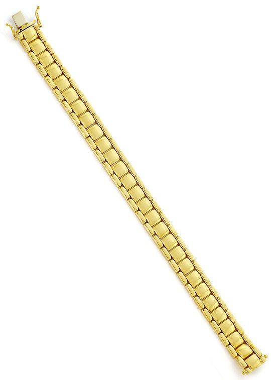 Foto 2, Gelbgold Armband Wuerfel  Backstein Muster Gelbgold 14K, K2654