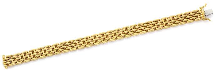 Foto 1, Gold Backstein Armband in 14K Gelbgold Kastenverschluss, K2655